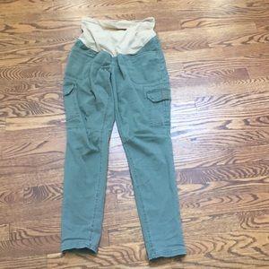 Motherhood maternity cargo pants
